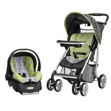 Evenflo Journeylite Green Rings Travel System - image 1 of 4
