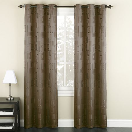 918 Geometric Grommet Curtains - image 1 of 1