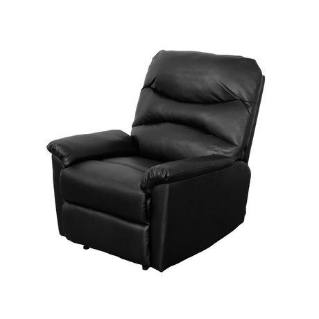 fauteuil inclinable corliving luke en cuir reconstitu. Black Bedroom Furniture Sets. Home Design Ideas