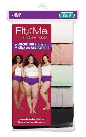 9c51756957 Fruit of the Loom Ladies Fit for Me Microfiber Brief