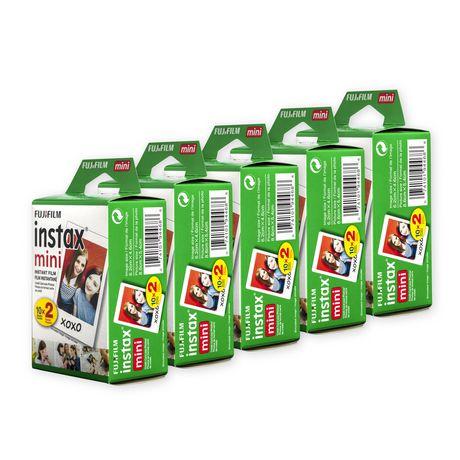 Fujifilm Canada Inc Fujifilm Instax Mini Film 5 X Twin Pack (100 Exposures) by Fujifilm Canada Inc