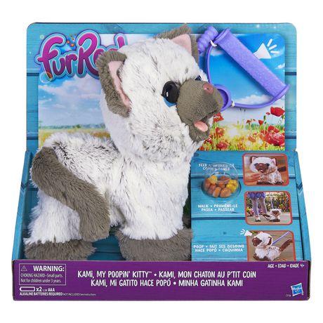 Furreal Friends Furreal Kami, My Poopin' Kitty White Aaa