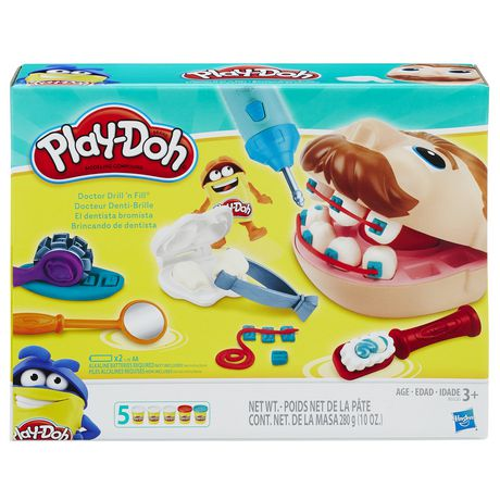 Play-Doh Doctor Drill 'N Fill Set White, Red, Blue