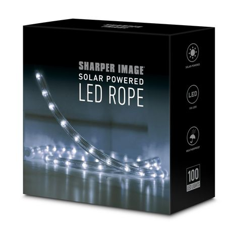 Sharper Image Solar Powered Led Outdoor Rope Light Walmart