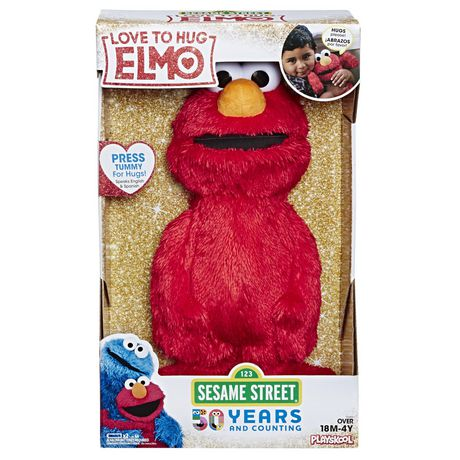 Box with plush Elmo toy inside from Sesame Street