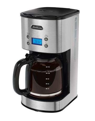 Sunbeam Percolator Coffee Maker : Sunbeam Stainless Steel 12- Cup Programmable Coffee Maker - BVSBCM0001-033 Walmart.ca