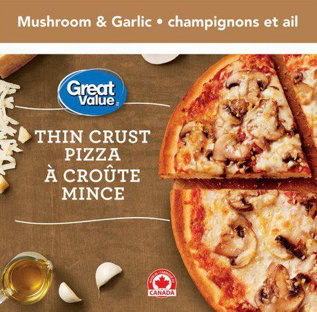 Great Value Thin Crust Mushroom and Garlic Pizza - image 1 of 3