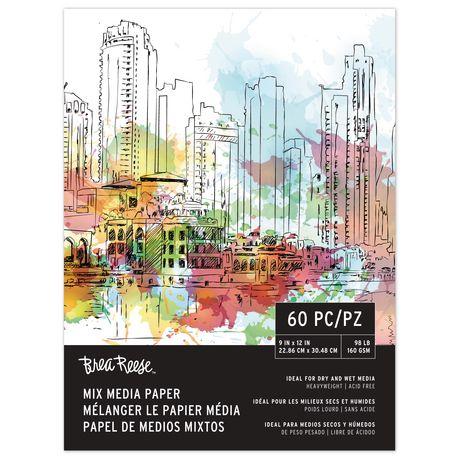 "Momenta Inc Mixed Media Paper Pad PRO, 9x12"", 60 Sheets - image 1 of 1"