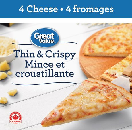 Great Value Thin and  Crispy 4 Cheese Pizza - image 1 of 3