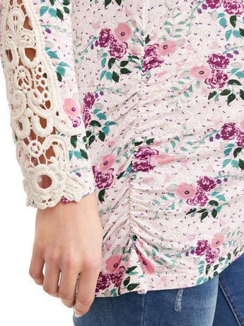 Tee-shirt en crochet à manches longues - image 4 de 4