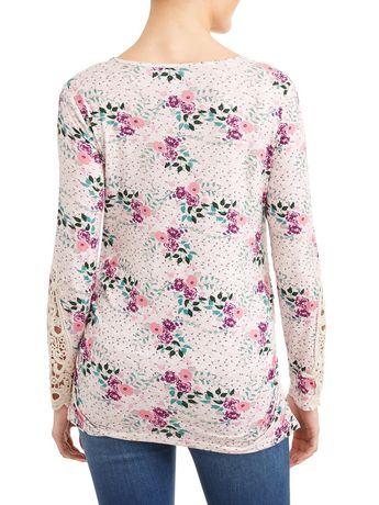 Tee-shirt en crochet à manches longues - image 3 de 4