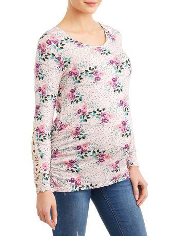Tee-shirt en crochet à manches longues - image 1 de 4