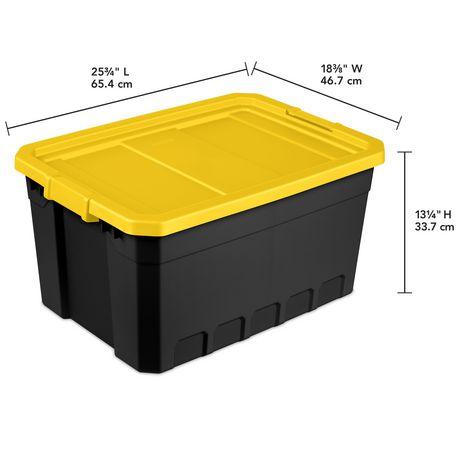 Sterilite Boîte Empilable 72L- Jaune- 4PK - image 3 de 3