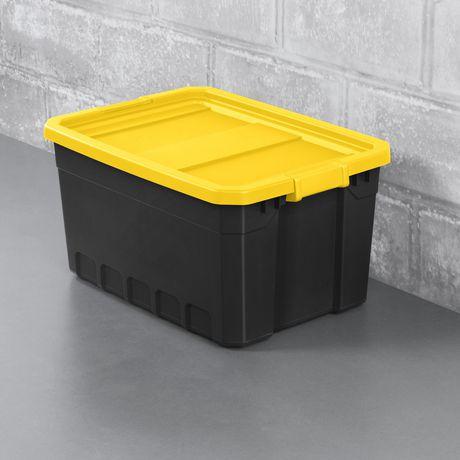 Sterilite Boîte Empilable 72L- Jaune- 4PK - image 2 de 3