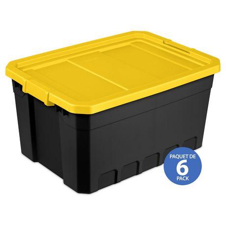 Sterilite Boîte Empilable 72L- Jaune- 4PK - image 1 de 3
