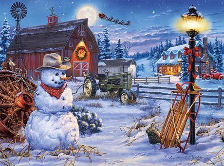 Buffalo Games Darrell Bush Le puzzle Country Christmas en 1000 pièces - image 2 de 3