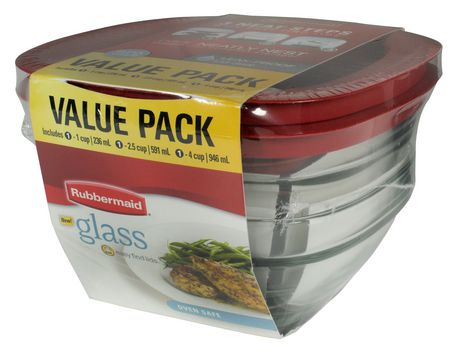 Rubbermaid 6pc Glass Food Storage Value Pack Walmart Canada