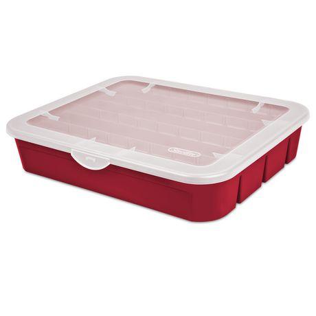 Sterilite Adjustable Red Ornament Case - image 2 of 3