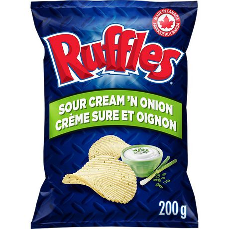 Ruffles Sour Cream 'n Onion Potato Chips - image 1 of 4