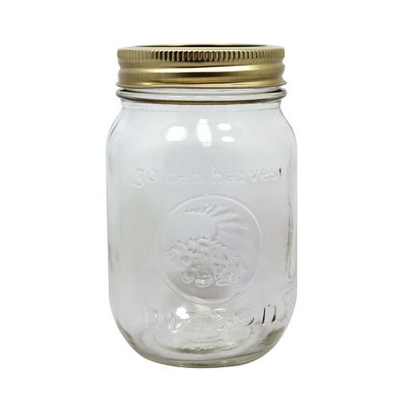 Golden Harvest Regular Mouth 500ml Glass Jars with Lids and Bands, 12 Count - image 2 of 6