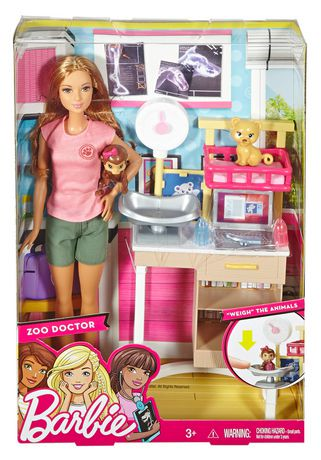 Barbie carri res barbie v t rinaire de zoo brunette - Barbie veterinaire ...