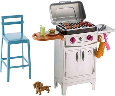 barbie meubles et accessoires barbecue walmart canada. Black Bedroom Furniture Sets. Home Design Ideas