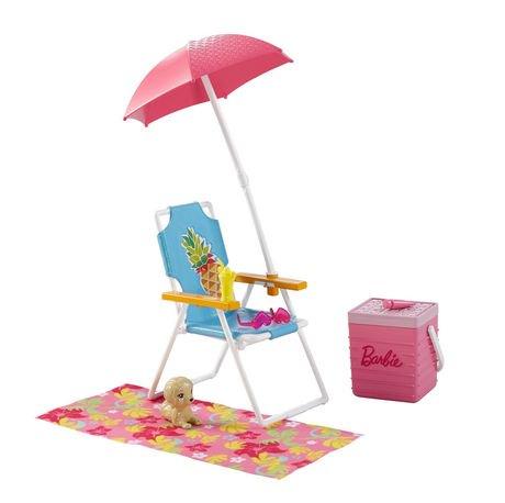 barbie meubles et accessoires pique nique la plage walmart canada. Black Bedroom Furniture Sets. Home Design Ideas