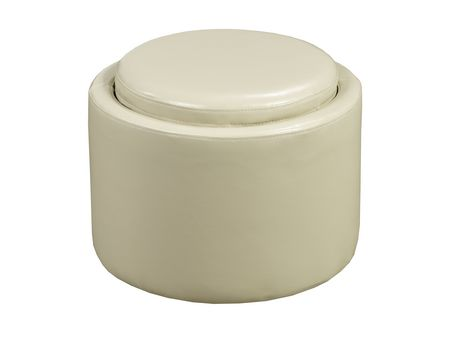 Storage Ottoman with Reverse Tray Cream Walmart Canada