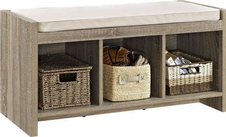 Dorel Ella Entryway Storage Bench with Cushion - image 1 of 3