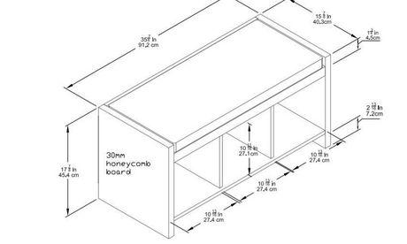 Dorel Ella Entryway Storage Bench with Cushion - image 3 of 3