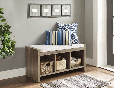 Dorel Ella Entryway Storage Bench with Cushion - image 2 of 3