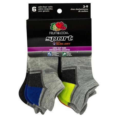 Fruit of the Loom - Boys' Sport Low Cut Socks - 6 Pack - image 1 of 3