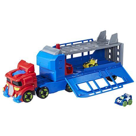 Playskool Heroes Transformers Rescue Bots Flip Racers - Optimus Prime Remorque et piste de course - image 3 de 4