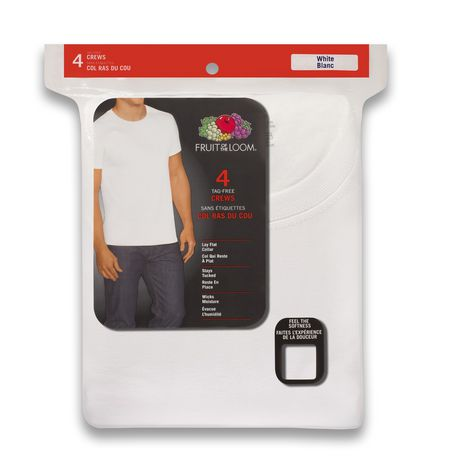 Fruit of the Loom Men's Crew T-Shirt, 4-Pack - image 2 of 2