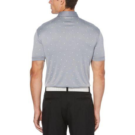 60d7d9258 Men's Performance Short Sleeve Mini Printed Golf Polo Shirt ...
