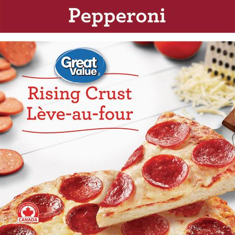 Great Value Frozen Rising Crust Three Meat Pizza, 28.8 oz ... |Great Value Pepperoni