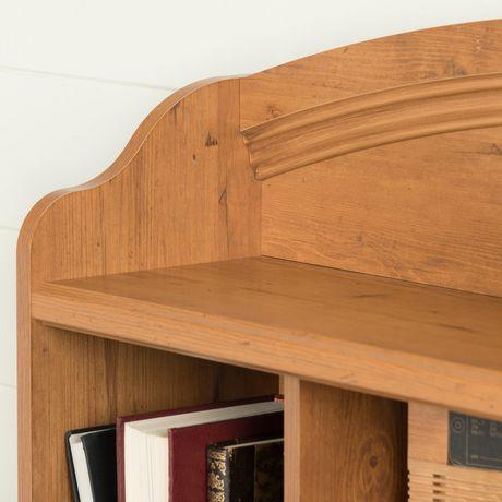 South Shore Tête de lit bibliothèque une place Collection Prairie, finition pin champêtre - image 6 de 8