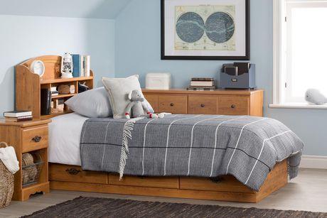 South Shore Tête de lit bibliothèque une place Collection Prairie, finition pin champêtre - image 4 de 8