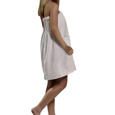 3ca5de9df Radiant Saunas Women's White Spa & Bath Terry Cloth Towel Wrap - image ...