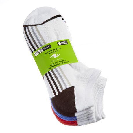 Athletic Works Men's Low Cut Socks, 6 Pairs - image 1 of 2