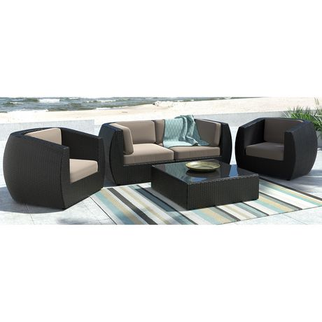 Corliving Pps 602 Z Seattle Curved Sofa And Chair Patio