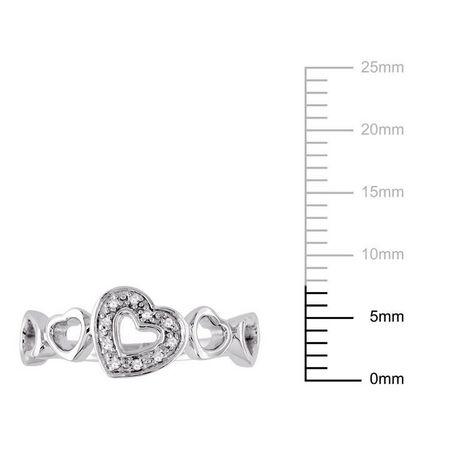 Bague Miabella multi-cœurs avec diamant en argent sterling - image 3 de 3