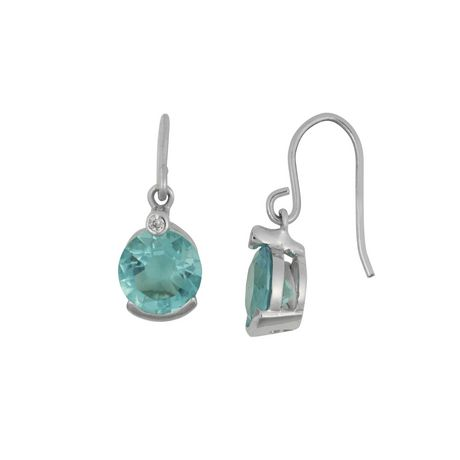 c286a07ae5b225 Sterling Silver Round Bleu Cz Earring - image 2 of 2 ...