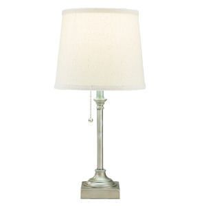 hometrends Pewter Table Lamp with Off-White Shade - image 3 of 3
