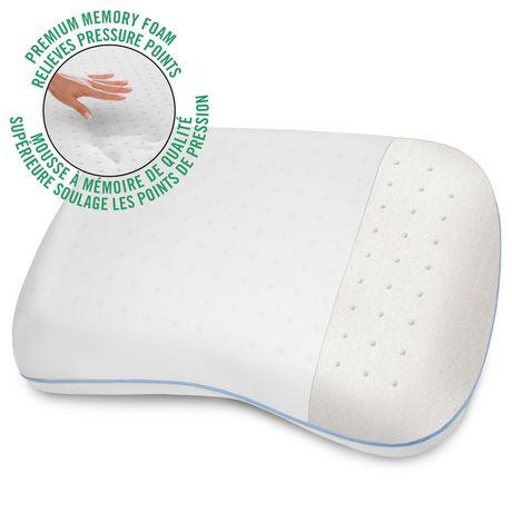 Oreiller de lit en mousse viscoélastique HoMedics à forme confortable - image 1 de 3