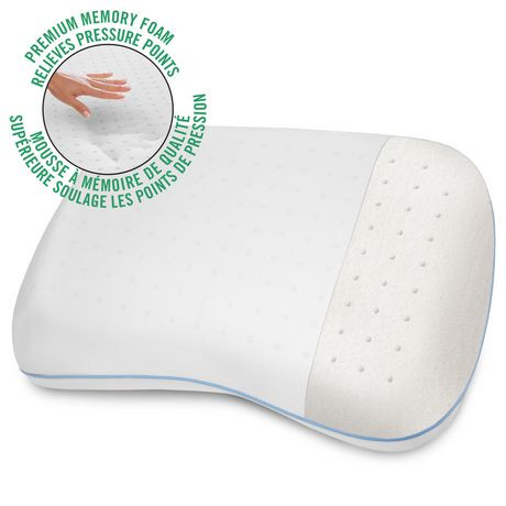 Homedics Premium Memory Foam Traditional Bed Pillow : HoMedics Comfort Shape Memory Foam Bed Pillow Walmart Canada