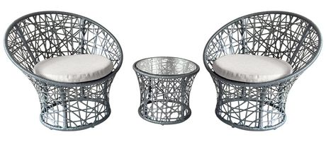 Henryka 3 Piece Bistro Set With Cushions - image 2 of 4
