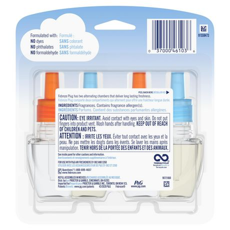 Recharges pour assainisseur d'air éliminateur d'odeurs Febreze Plug, parfum Hawaiian Aloha - image 2 de 7