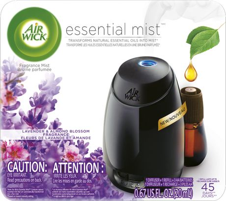 Air Wick Essential Mist Fragrance Oil Diffuser Kit, Lavender & Almond Blossom, 1 Diffuser + 1 Refill, Air Freshener - image 1 of 9