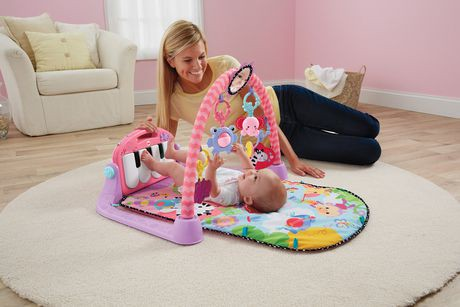 piano fisher price kick play rose. Black Bedroom Furniture Sets. Home Design Ideas
